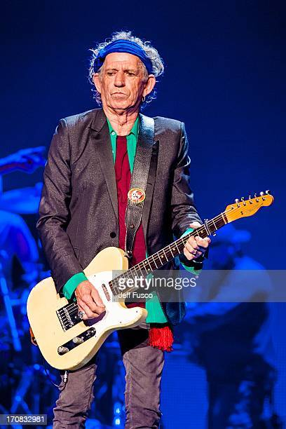 Keith Richards of the Rolling Stones performs at the Wells Fargo Center June 18 2013 in Philadelphia Pennsylvania