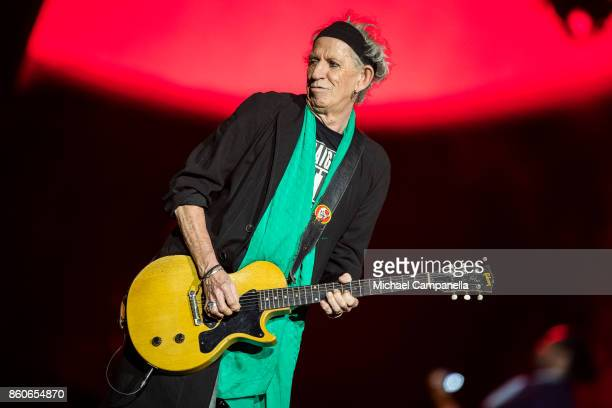Keith Richards of the Rolling Stones performs in concert during their No Filter Tour at Friends Arena on October 12 2017 in Stockholm Sweden