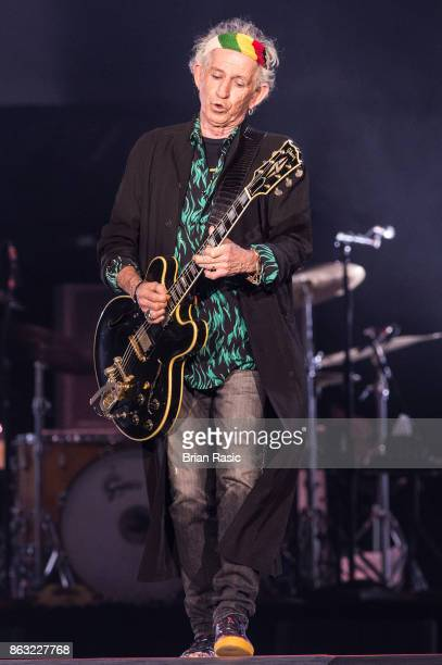 Keith Richards of The Rolling Stones performs live on stage at U Arena on October 19 2017 in Nanterre France