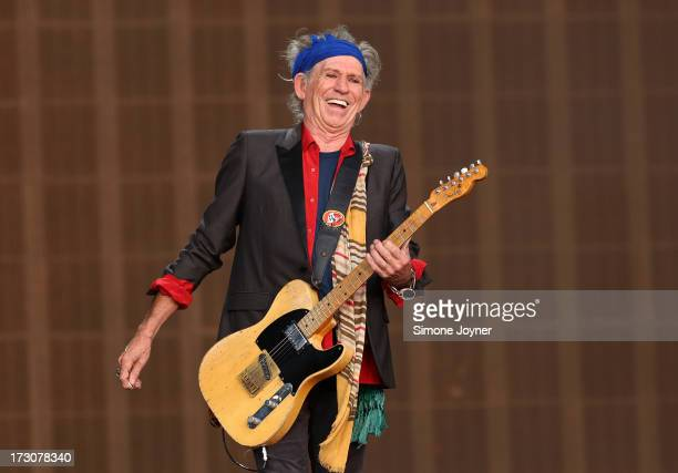 Keith Richards of The Rolling Stones performs live on stage during day two of British Summer Time Hyde Park presented by Barclaycard at Hyde Park on...
