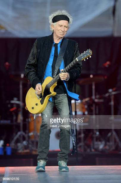 Keith Richards of The Rolling Stones performs live on stage on the opening night of the 'No Filter' tour at Croke Park on May 17 2018 in Dublin...
