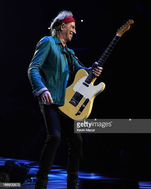 Keith Richards of The Rolling Stones performs on stage at Barclays Center of Brooklyn on December 8 2012 in New York City