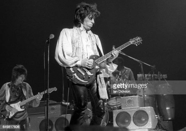 Keith Richards of The Rolling Stones performs on stage at Earls Court London United Kingdom 21 May 1976