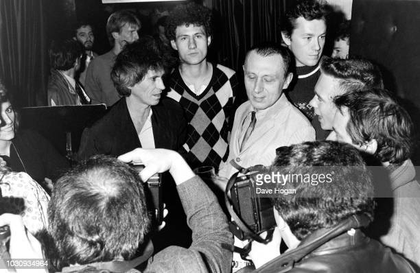 Keith Richards of The Rolling Stones spends a night at Ronnie Scott's in London, 18th November 1985. They are there to hear fellow Stone Charlie...