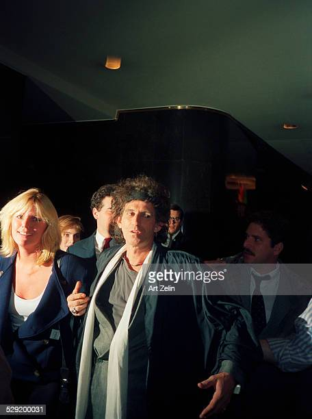 Keith Richards of The Rolling Stones with his wife Patty Hanson circa 1980 New York