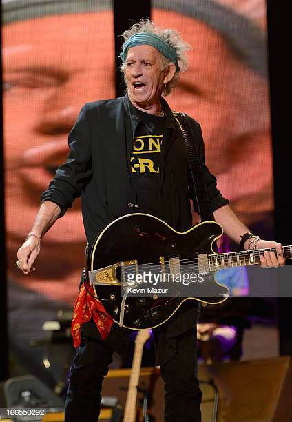 Keith Richards performs on stage during the 2013 Crossroads Guitar Festival at Madison Square Garden on April 13 2013 in New York City