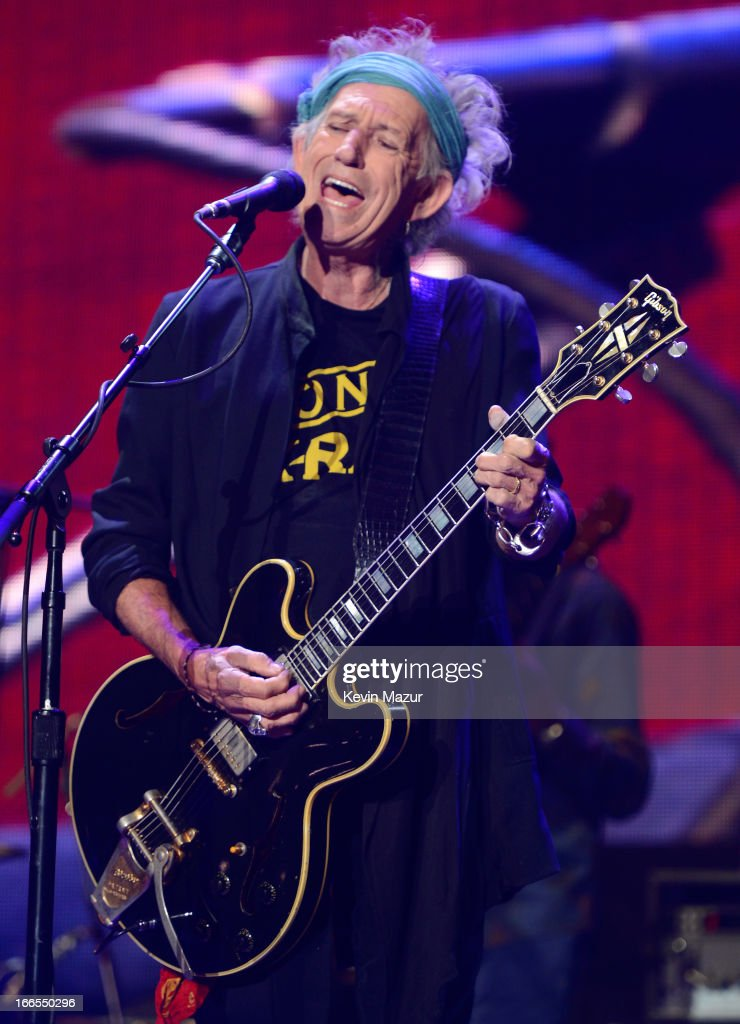 Keith Richards performs on stage during the 2013 Crossroads Guitar Festival at Madison Square Garden on April 13, 2013 in New York City.