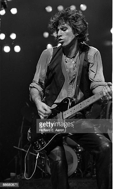 Keith Richards performs on stage with the New Barbarians at Madison Square Garden on May 7th 1979 in New York