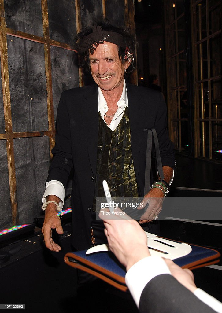 Keith Richards, presenter during 22nd Annual Rock and Roll Hall of Fame Induction Ceremony - Backstage at Waldorf Astoria in New York City, New York, United States.