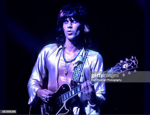 Keith Richards Rolling Stones performing at The Boston Garden July 18 1972