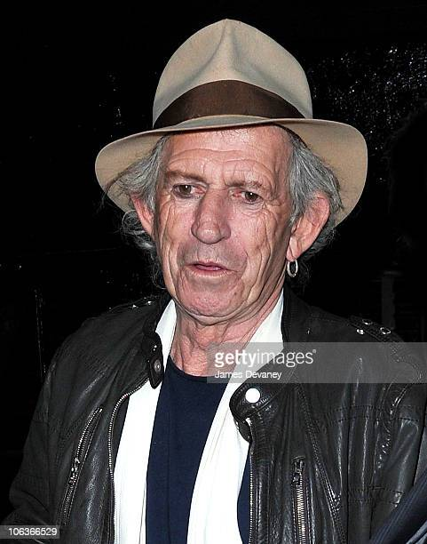 Keith Richards seen leaving The Lion on October 29 2010 in New York City