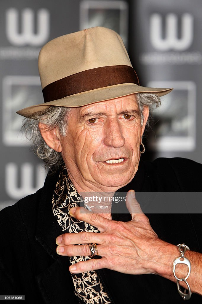 Keith Richards signs copies of his his book 'Life' held at Waterstones, Piccadily on November 3, 2010 in London, England.