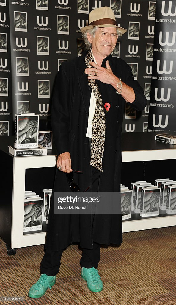 Keith Richards signs his book 'Life' at Waterstone's Picadilly on November 3, 2010 in London, England.