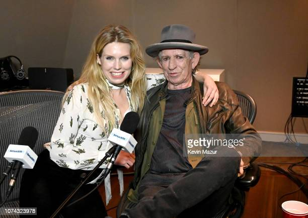 Keith Richards sits down with Theodora Richards exclusively on her SiriusXM show Off The Cuff at SiriusXM Studios on December 5 2018 in New York City