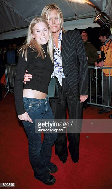 Keith Richards'' wife Patty Hanson and daughter Teadora attend the premiere of Bridget Jone's Diary April 2 2001 in New York City