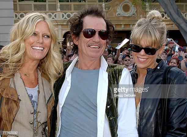 Keith Richards with wife Patti Hansen and daughter Theodora Richards
