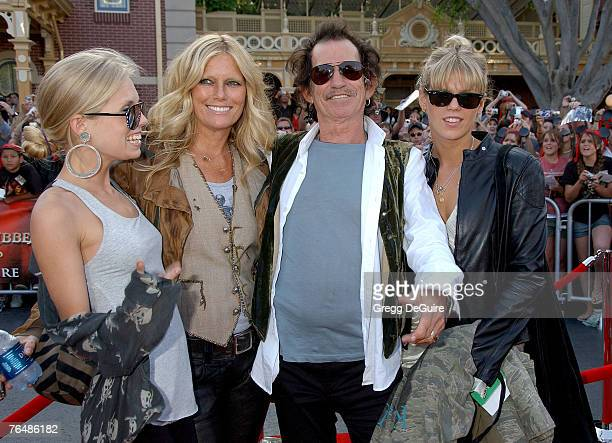 Keith Richards with wife Patti Hansen and daughters Alexandra Richards and Theodora Richards