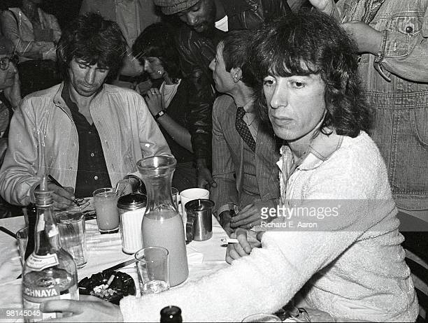 Keith RichardsCharlie Watts and Bill Wyman posed at the launch party for the Rolling Stones album 'Love You Live' at Trax in New York in September...