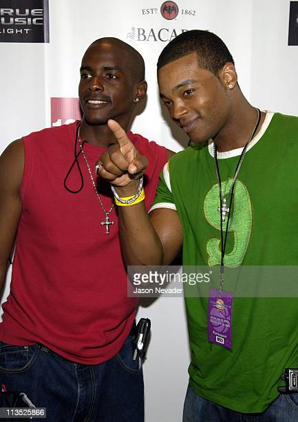 Keith Robinson and Chico Benymon during *NSYNC's Challenge for the Children VII - Celebrity Bowling - Arrivals at 10pin in Chicago, Illinois, United...