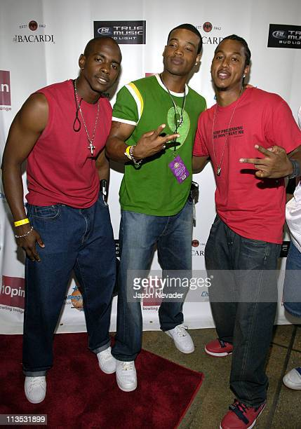 Keith Robinson, Chico Benymon and Wesley Jonathan during *NSYNC's Challenge for the Children VII - Celebrity Bowling - Arrivals at 10pin in Chicago,...