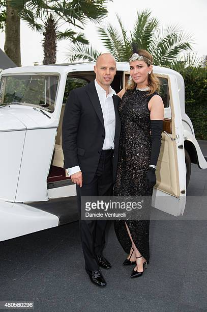 Keith Rubenstein and Inga Rubenstein attend Natasha Poly BDAY party in Amsterdam on July 12 2015 in Amsterdam Netherlands