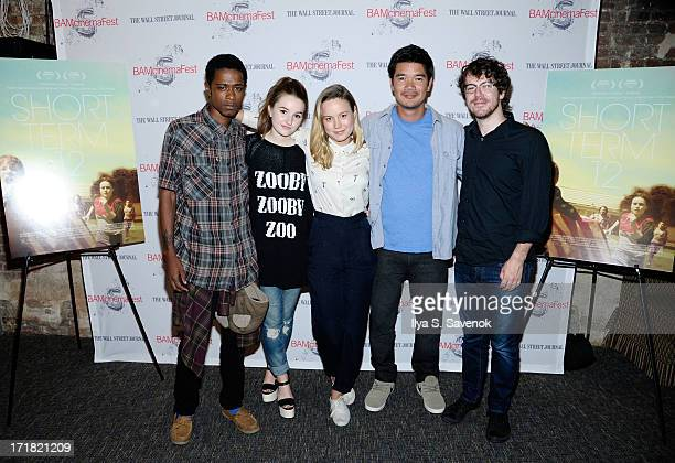 Keith Stanfield Brie Larson Destin Cretton and John Gallagher attend 'Short Term 12' Closing Night Screening BAMCinemafest 2013 at BAM Harvey Theater...