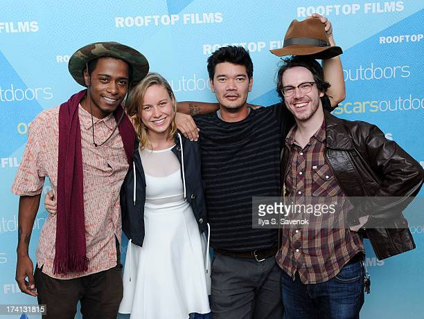 Keith Stanfield Brie Larson Destin Cretton and John Gallagher attend AMPAS And Rooftop Films Special Screening Of 'Short Term 12' at Old American Can...