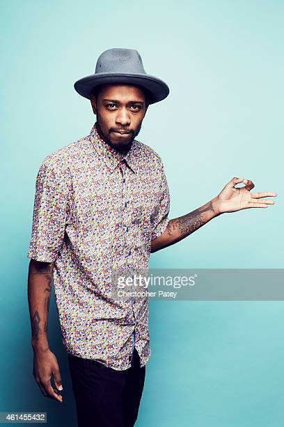 Keith Stanfield poses for a portrait at the 2015 Film Independent Spirit Awards Nominee Brunch at BOA Steakhouse on January 10 2015 in Los Angeles...