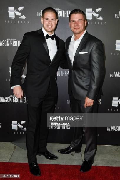 """Keith Sutliff and Michael Whelan attend the premiere of """"The Mason Brothers"""" at the Egyptian Theatre on April 11, 2017 in Hollywood, California."""