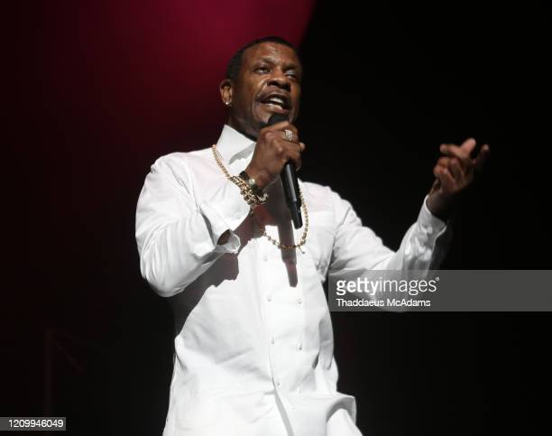 Keith Sweat performs as part of the RnB Rewind concert at Bridgestone Arena on February 28 2020 in Nashville Tennessee
