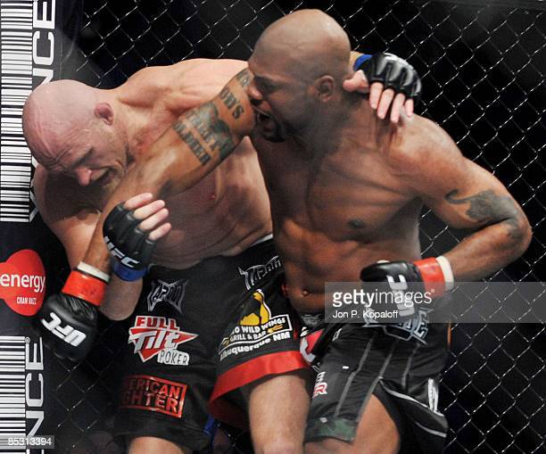 """Keith """"The Dean of Mean"""" Jardine battles Quinton """"Rampage"""" Jackson during their Light Heavyweight bout at UFC 96: Jackson vs. Jardine at the..."""