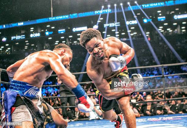"""Keith Thurman defeats Shawn Porter """"n by Unanimous Decsion in their WBA Welterweight title fight at The Barclay Center on June 25, 2016 in Brooklyn,..."""