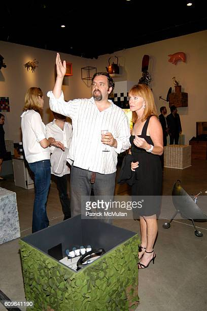 Keith Tyson and JoAnn Braunstein attend Keith Tyson Pace Wildenstein Opening and After Party at Pace Wildenstein Gallery and Spotlight Live on...