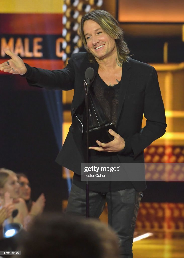 Keith Urban accepts award onstage during the 2017 American Music Awards at Microsoft Theater on November 19, 2017 in Los Angeles, California.