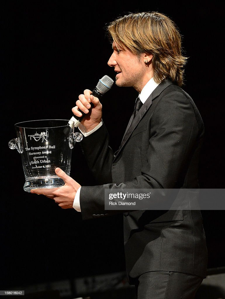 Keith Urban Accepts Nashville Symphony Harmony Award at Schermerhorn Symphony Center on December 8, 2012 in Nashville, Tennessee.