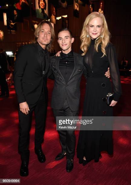 Keith Urban Adam Rippon and Nicole Kidman attend the 2018 Time 100 Gala at Jazz at Lincoln Center on April 24 2018 in New York CityÊ