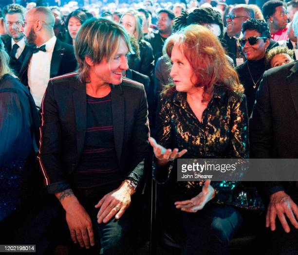 Keith Urban and Bonnie Raitt attend the 62nd Annual GRAMMY Awards on January 26, 2020 in Los Angeles, California.