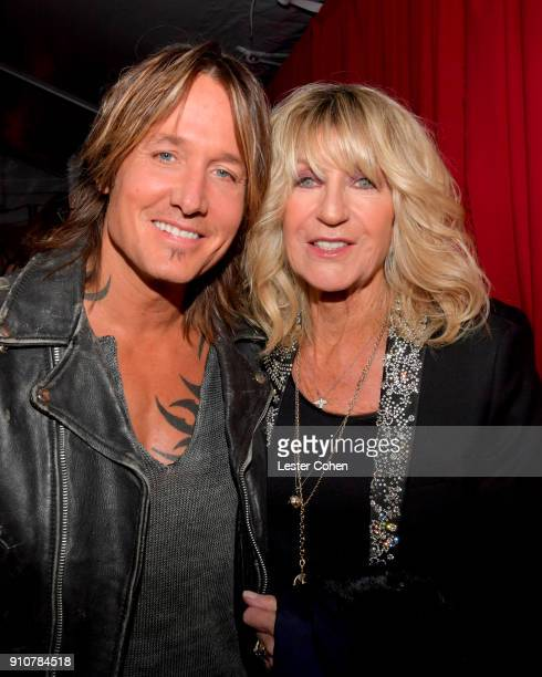 Keith Urban and Christine McVie attend MusiCares Person of the Year honoring Fleetwood Mac at Radio City Music Hall on January 26 2018 in New York...