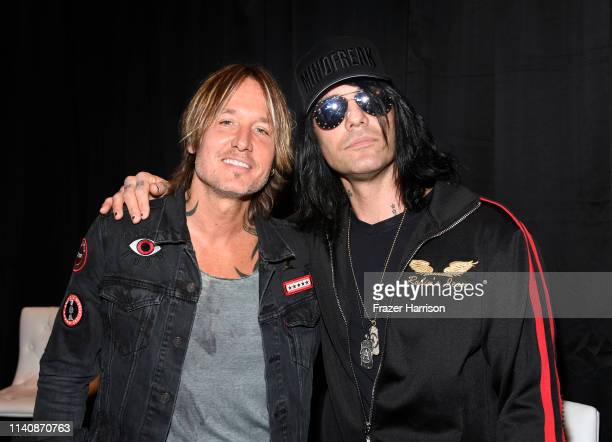 Keith Urban and Criss Angel attend the 54th Academy Of Country Music Awards Cumulus/Westwood One Radio Remotes on April 06 2019 in Las Vegas Nevada