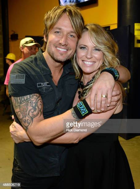 Keith Urban and Deana Carter attend Keith Urban's Fifth Annual We're All 4 The Hall Benefit Concert at the Bridgestone Arena on May 6 2014 in...