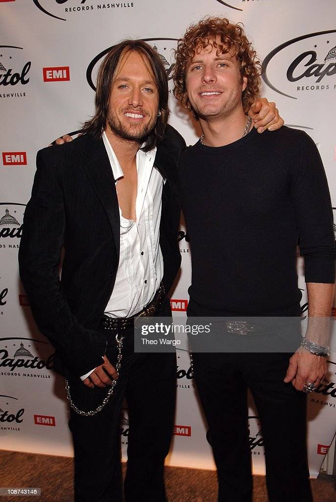Keith Urban and Dierks Bentley during The 39th Annual CMA Awards - Capital Records Post Party - Red Carpet and Inside at Nikki Beach in New York City, New York, United States.