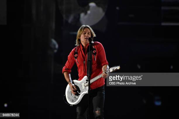Keith Urban and Julia Michaels perform at the 53RD ACADEMY OF COUNTRY MUSIC AWARDS live from the MGM Grand Garden Arena in Las Vegas Sunday April 15...