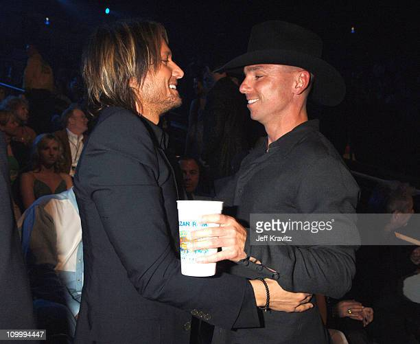Keith Urban and Kenny Chesney during 2006 CMT Music Awards Backstage and Audience at Curb Events Center at Belmont University in Nashville Tennessee...