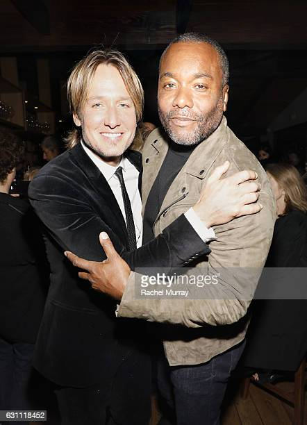 Keith Urban and Lee Daniels attend a special screening and reception of LION hosted by David O'Russell and Lee Daniels celebrating director Garth...