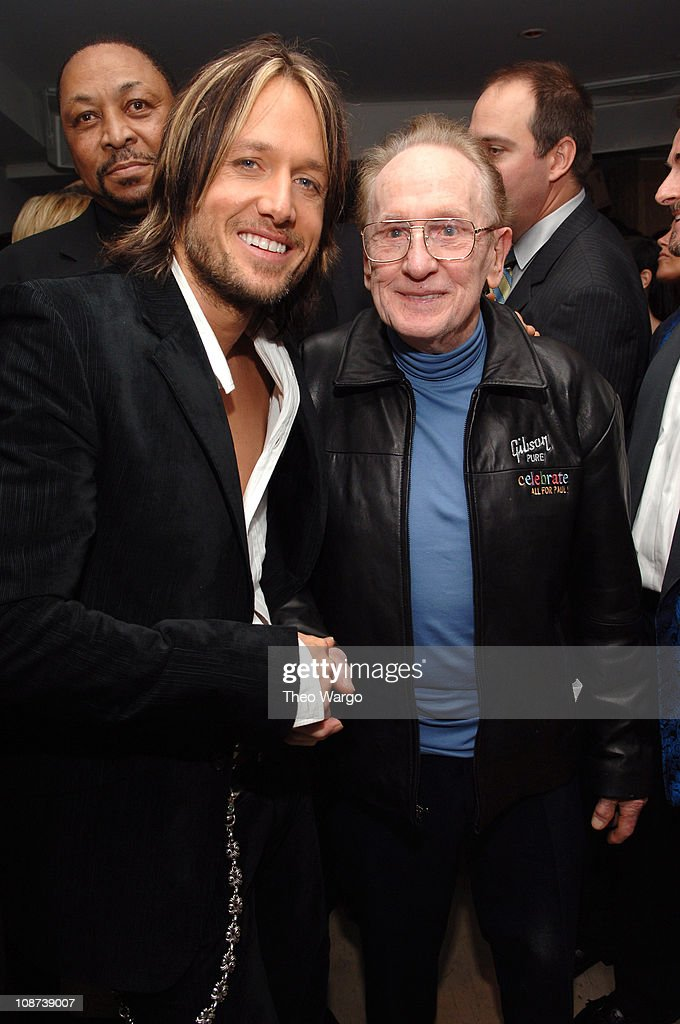 Keith Urban and Les Paul during The 39th Annual CMA Awards - Capital Records Post Party - Red Carpet and Inside at Nikki Beach in New York City, New York, United States.