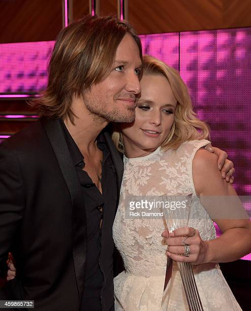 Keith Urban and Miranda Lambert at the 2014 CMT Artists Of The Year at the Schermerhorn Symphony Center on December 2 2014 in Nashville Tennessee