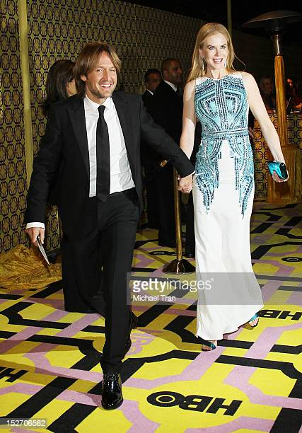 Keith Urban and Nicole Kidman arrive at HBO'S Post 64th Primetime Emmy Awards reception held at The Plaza at the Pacific Design Center on September...