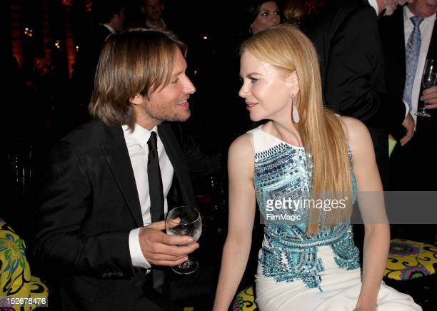 Keith Urban and Nicole Kidman attend HBO's Official Emmy After Party at The Plaza at the Pacific Design Center on September 23 2012 in Los Angeles...