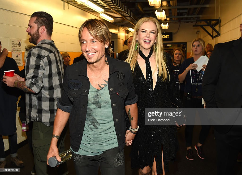 Keith Urban and Nicole Kidman attend the 2016 CMT Music awards at the Bridgestone Arena on June 8, 2016 in Nashville, Tennessee.