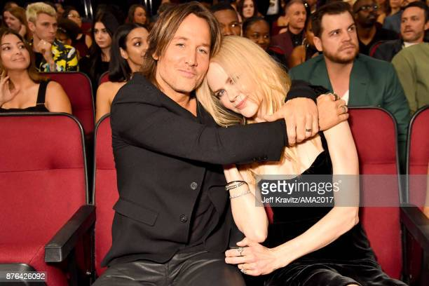 Keith Urban and Nicole Kidman attend the 2017 American Music Awards at Microsoft Theater on November 19 2017 in Los Angeles California